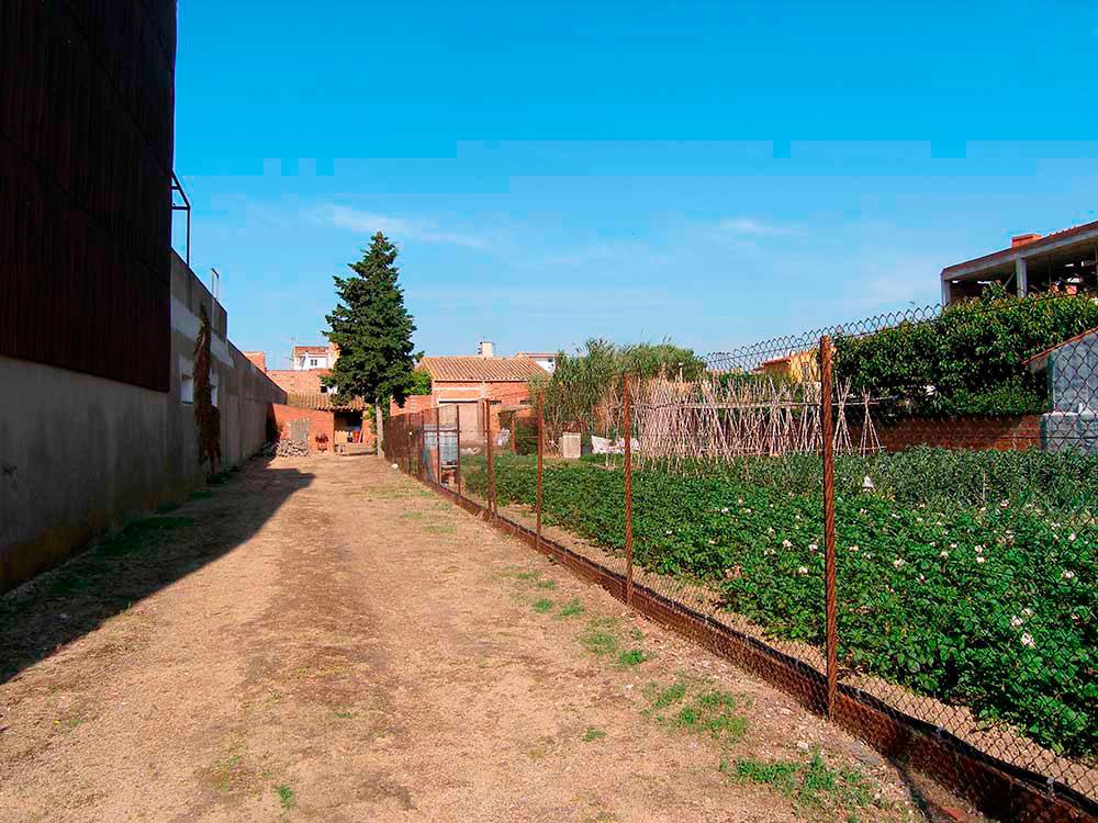 Terreny al centre del poble de Palafrugell (Costa Brava)